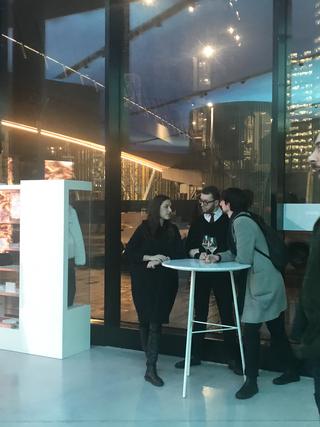 People | Family, Giulio Verago all'inaugurazione di STATO SOTTILE, mostra personale di Matilde Sambo, al Volvo Studio Milano, 2019