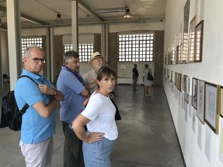 People | Family, GiampaoloFabriza Ferrari con Giovanni Sabatini alla mostra di Nazzareno Guglielmi, Fabbrica del Vapore, 2019