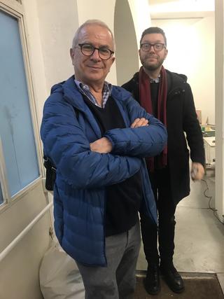 People | Family, Giampaolo Ferrari, sostenitore di Viafarini, con Giulio Veragoa VIR Viafarini-In-Residence, 2020