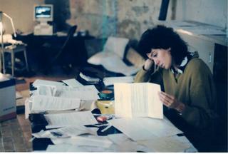 La storia dell'Archivio - 1, Patrizia Brusarosco all'Archivio.