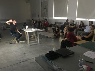 People | Family, Giulio Verago con gli artisti a VIR Viafarini-In-Residence 2019