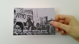 """Workshop e progetto espositivo Academy Awards 2016, Evento """"Queer, feminist reading group"""" 16 marzo, immagine chiave."""