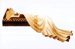 Piero Golia, La mia bella… addormentata nel bosco, 2000: scultura di sabbia