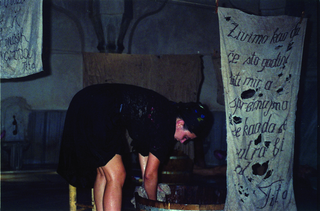 Maja Bajevic, Avanti Popolo, Maja Bajevic, Women at Work — Washing Up, 2001, five-day performance / video (18′ 09″) / photographs.