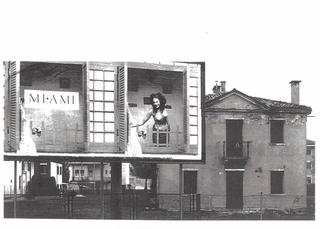 Lorenza Lucchi Basili, Michele Morosinotto, Gregorio Paonessa, Synthex, Quattro teorie sul paesaggio, Michele Morosinotto Mi ami, 1999 Fotografia b/n con viraggio 49 x 75 cm