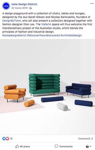 DesignByThem Milan 2019, DesignbyThem Milan 2019, comunicazione Facebook.