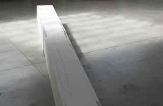 Gabriele Garavaglia, W 3 L λ, Il negativo di un anno luce (2011 - 2012) Plasterboard, India ink 515 x 32 cm