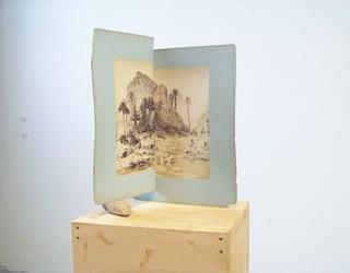 Adelita Husni-Bey, La montagna verde, Untitled, 2011 fotografie, sasso