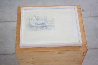 Adelita Husni-Bey, La montagna verde, Matita e china su carta
