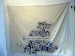 Rebecca Agnes, Le città che ci aspettano, Rebecca Agnes, Ricamo su tessuto, 2002.
