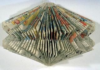 Stefano Arienti, Turbina, 1988 (Turbine) Folded comic-strip 25 cm di altezza circa