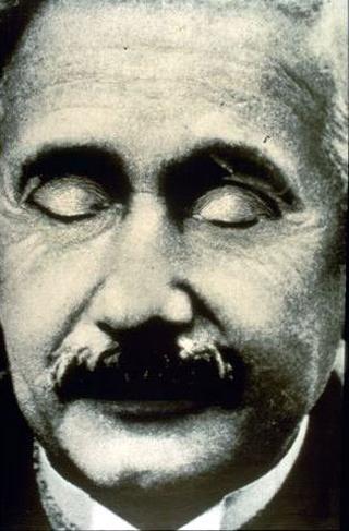 Stefano Arienti, Senza titolo (Einstein), 1994 (Untitled (Einstein)) Partially erased poster 87 x 32 cm