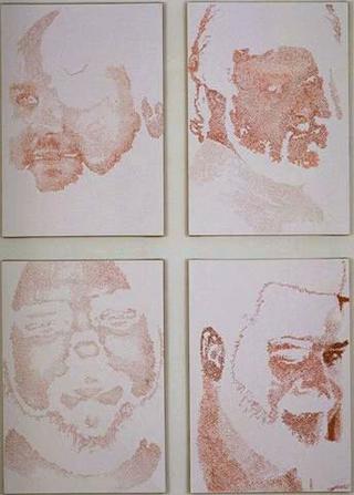 Stefano Arienti, Senza titolo, 1995 4 elementi da 42,5 x 29,5 cm cad.