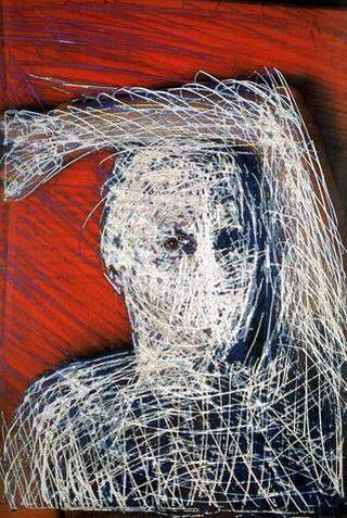 Stefano Arienti, Senza titolo, 1996 (Untitled) Electrostatically transfered print from scratched slide 180 x 122,5 cm Studio Guenzani, Milano