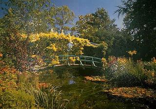 Stefano Arienti, Giardino di Monet, 1989 (Monet's garden) Four-colour processed puzzle 262 x 380 cm Studio Guenzani, Milano