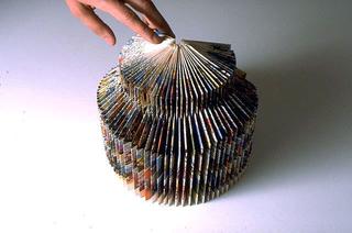Stefano Arienti, Turbina, 1986 (Turbine) Folded comic-strip 25 cm di altezza circa