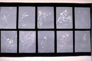 Stefano Arienti, Tiepolo, 1992 Silicon drawings on tissue paper 90 x 160 cm