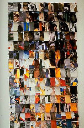 Stefano Arienti, Senza titolo, 1987 (Untitled) Folded pages from periodicals 80 x 40 cm