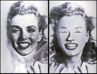 Stefano Arienti, Senza titolo (Marilyn), 1993 (Untitled (Marilyn)) Partially erased poster 100 x 80 cm ciascuno