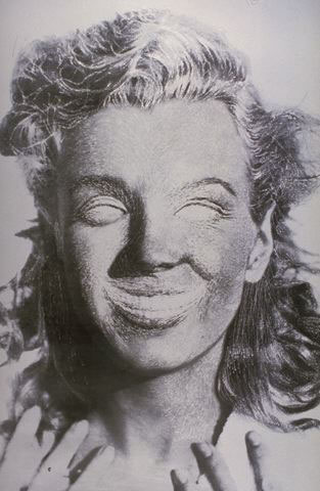 Stefano Arienti, Senza titolo (Marilyn), 1993 (Untitled (Marilyn)) Partially erased poster 100 x 80 cm Galerie Analix, Genève