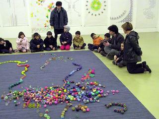 Stefano Arienti, Mostra per i bambini, 2001 (Exhibition for children) Mixed media misura ambiente - Mostra per i bambini , Castello di Rivoli - Museo d'Arte Contemporanea, Rivoli (TO).