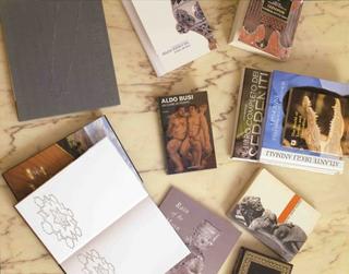 Stefano Arienti, Libri traforati, 2006 (Perforated books) 11 perforated books dimensioni variabili Studio Guenzani - Guenzani via Melzo 5, Milano Courtesy:Studio Guenzani, Milano