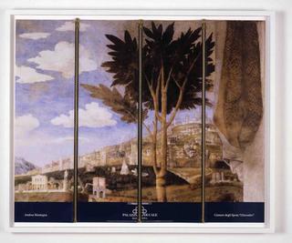 Stefano Arienti, L'incontro, 2006 (The Encounter) Red zip fastener on poster 60 x 73,5 cm Studio Guenzani - Guenzani via Melzo 5, Milano Courtesy:Studio Guenzani, Milano