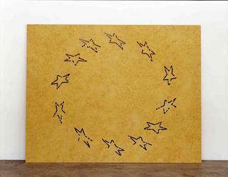 Stefano Arienti, Bandiera, 2006 (Flag) Yellow Atlantide marble 151 x 190 cm Studio Guenzani - Guenzani via Melzo 5, Milano Courtesy:Studio Guenzani, Milano