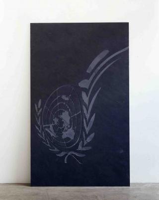 Stefano Arienti, Nazione Unite, 2006 (United Nations) Slate 215 x 130 cm Studio Guenzani - Guenzani via Melzo 5, Milano Courtesy:Studio Guenzani, Milano