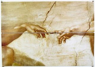 Stefano Arienti, Dita, 2007 Zip fastener on poster 97 x 137 cm Courtesy:Galleria S.A.L.E.S., Roma