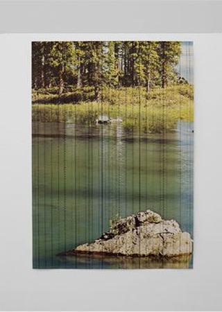 Stefano Arienti, Masso nel lago, 2010 96,5 x 137 cm Courtesy:Galleria Massimo Minini, Brescia