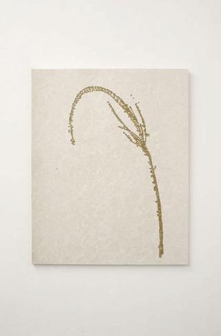 Stefano Arienti, Erba #2, 2010 Marble and golden ink 100 x 80 x 2 cm Courtesy:Galleria Massimo Minini, Brescia