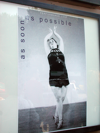 As soon as possible. Performance loop. The Class of Marina Abramovic - Braunschweig School of Art, Il poster.