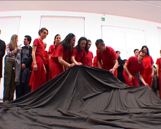 Claudia Losi, BalenaProject, Still da video documentazione della performance.