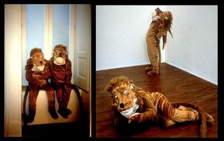Maurizio Cattelan, Tarzan & Jane, 1993 Fur costume and cloth Galleria Raucci/Santamaria, Napoli