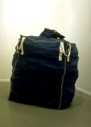 Maurizio Cattelan, Lullaby London, 1994 Rubble and bag 120 x 120 x 140 cm Laure Genillard Gallery, London