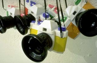 Maurizio Cattelan, Souvenir di Milano, 1994 (Souvenir of Milan) Modified cameras
