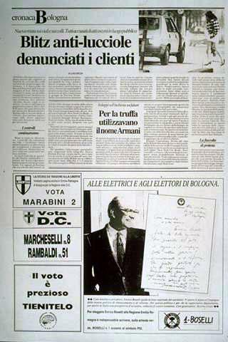 Maurizio Cattelan, Campagna elettorale, 1989 (Electoral campaign)