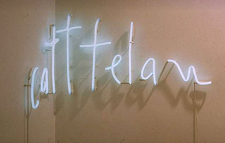Maurizio Cattelan, Cattelan, 1994 Neon 47 x 90 x 3,5 cm Laurie Genillard Gallery, Londra