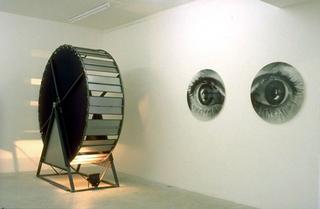 Maurizio Cattelan, Moi même toi même, 1997 (Myself yourself) Photographs, metallic carousel dimensioni variabili Galerie Emmanuel Perrotin Galerie, Paris