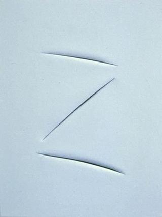 Maurizio Cattelan, Senza titolo, 1994 (Untitled) Acrylic on canvas cm 010,5 x 75