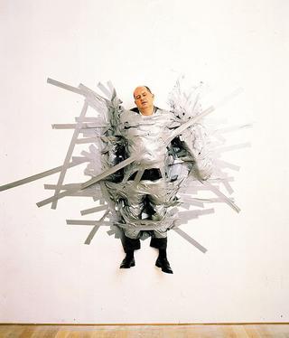 Maurizio Cattelan, A Perfect Day, 1999 Adhesive tape dimensioni reali Galleria Massimo De Carlo, Milano Foto di Armin Linke Courtesy:Galleria Massimo De Carlo, Milano