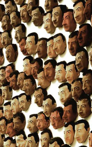 Maurizio Cattelan, Spermini (Little Sperms), 1997 Painted latex masks misura ambiente