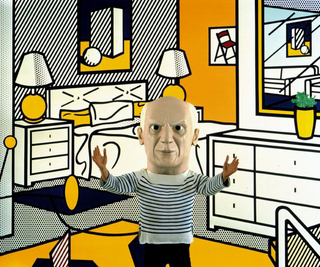 Maurizio Cattelan, Senza titolo, 1998 (Untitled) photography 183 x 228,6 cm Foto di Mauricio Guillen Courtesy: Marian Goodman Gallery, New York e Estate of Roy Liechtenstein