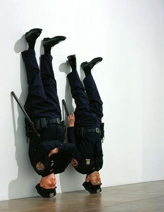 Maurizio Cattelan, Frank & Jamie, 2002 Wax dimensioni reali Marian Goodman Gallery, New York