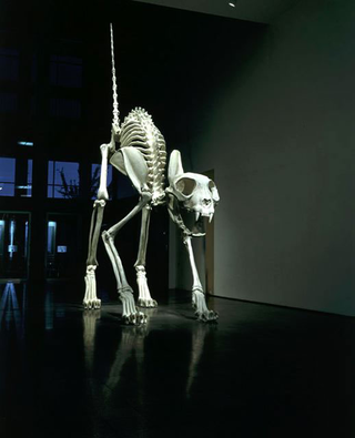 Maurizio Cattelan, Felix, 2000 OIl on polyvinal resin and glass fiber 1213 x 193 x 610 cm Courtesy:Marian Goodman Gallery, New York