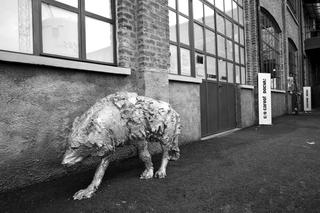 Curatology©, L'opera di Davide Rivalta all'ingresso sul Piazzale della Fabbrica del Vapore, come spazio 1 a cura di Davide Ferri