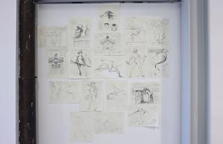 Alexej Koschkarow, Checkpoint Charlie, Checkpoint Charly (after Carribean Crises), 2009 Calendar Sheets, drawings Foto di Zeno Zotti