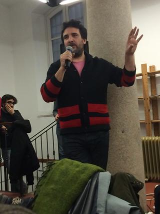 People | Family, Dino Lupelli che Patrizia aveva coinvolto per i progetti alla Fabbrica del Vapore, 2016