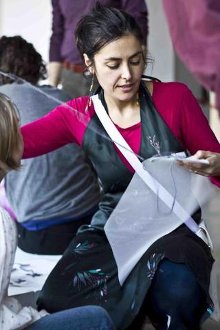 """Education Lab - formazione attraverso l'arte - I edizione, Laboratorio """"Migrazioni di segni"""" di Pane Arte e Marmellata con Maia Sambonet. Foto di Luca Vittorio Toffolon"""